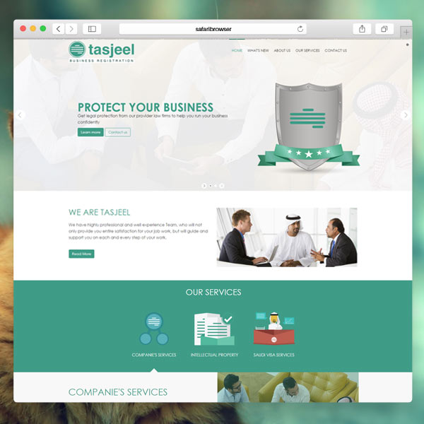 Tasjeel Website Portfolio